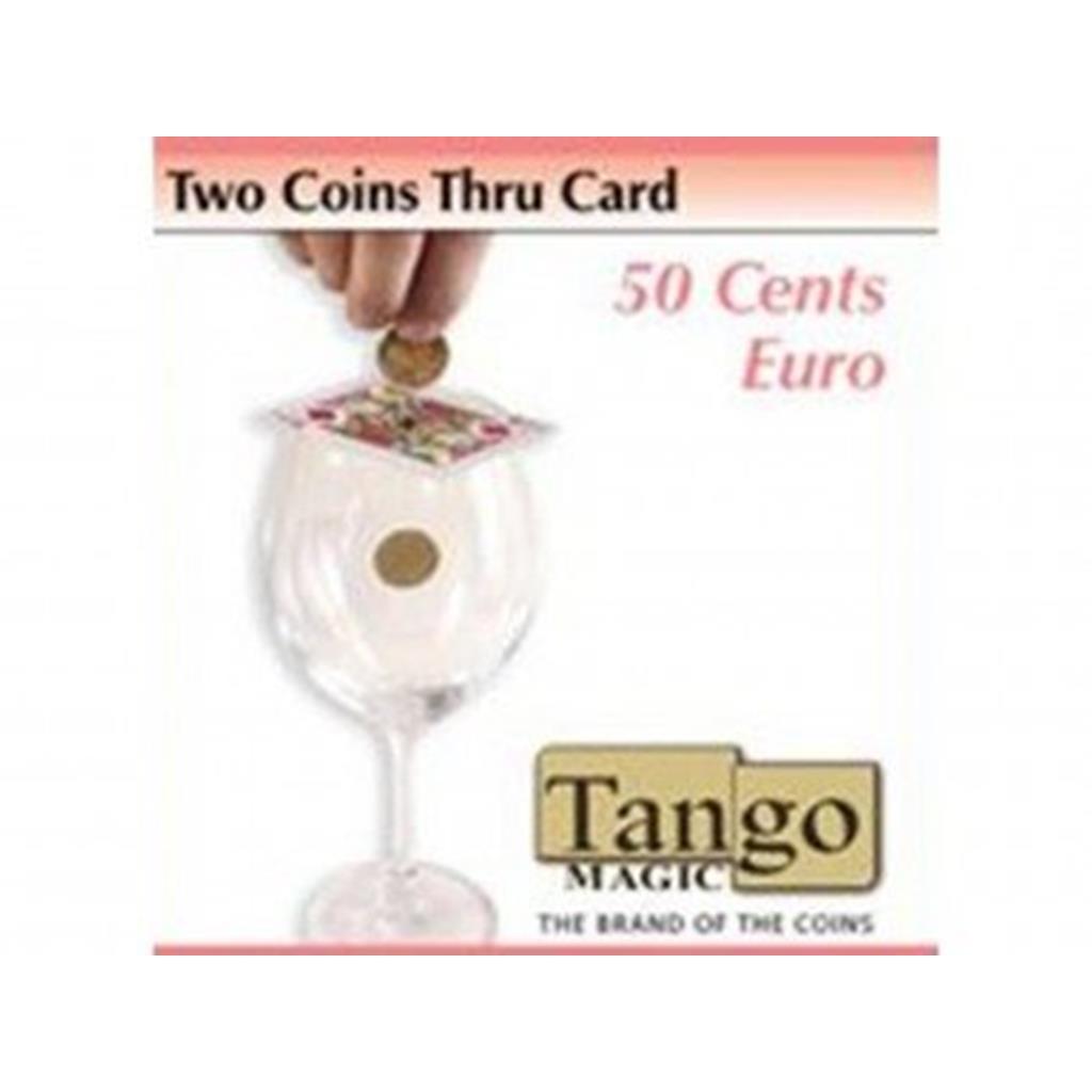2 moedas atravessam a Carta 50 cents - flipper e magnética
