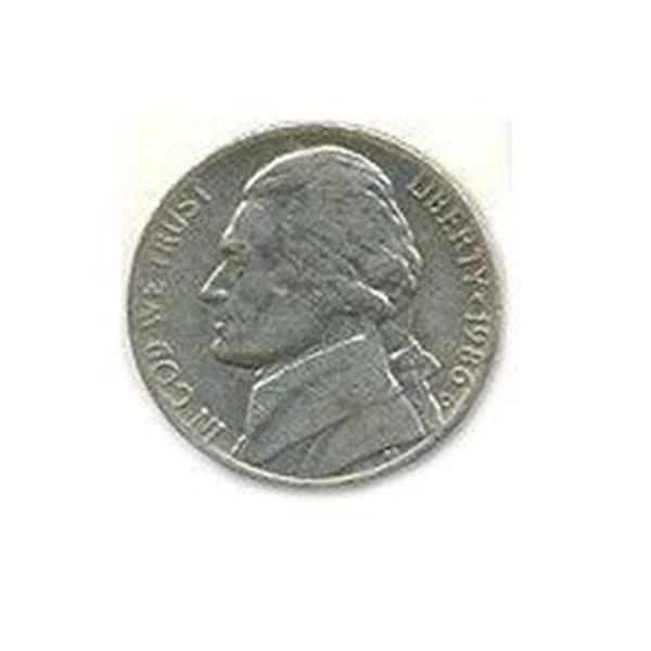 Moedas Jumbo (7,5 cm) Five Cents ;