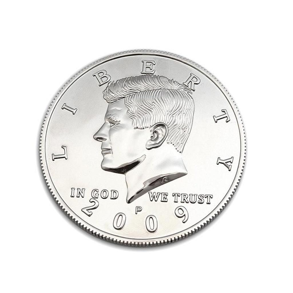 Moedas Jumbo (7,5 cm) Meio Dólar Niquelada;