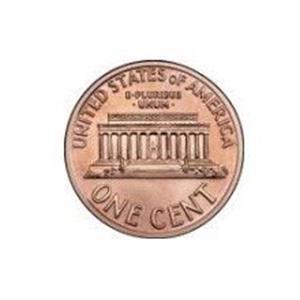 Moedas Jumbo (7,5 cm)One Cent ;