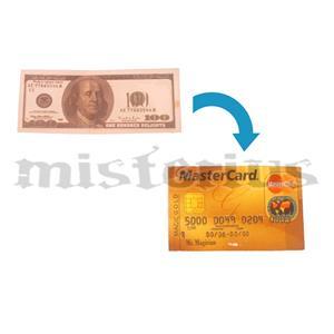 Nota Dolar em Cartão