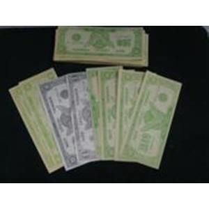 Notas de dolares para efeitos mágicos (specimen)