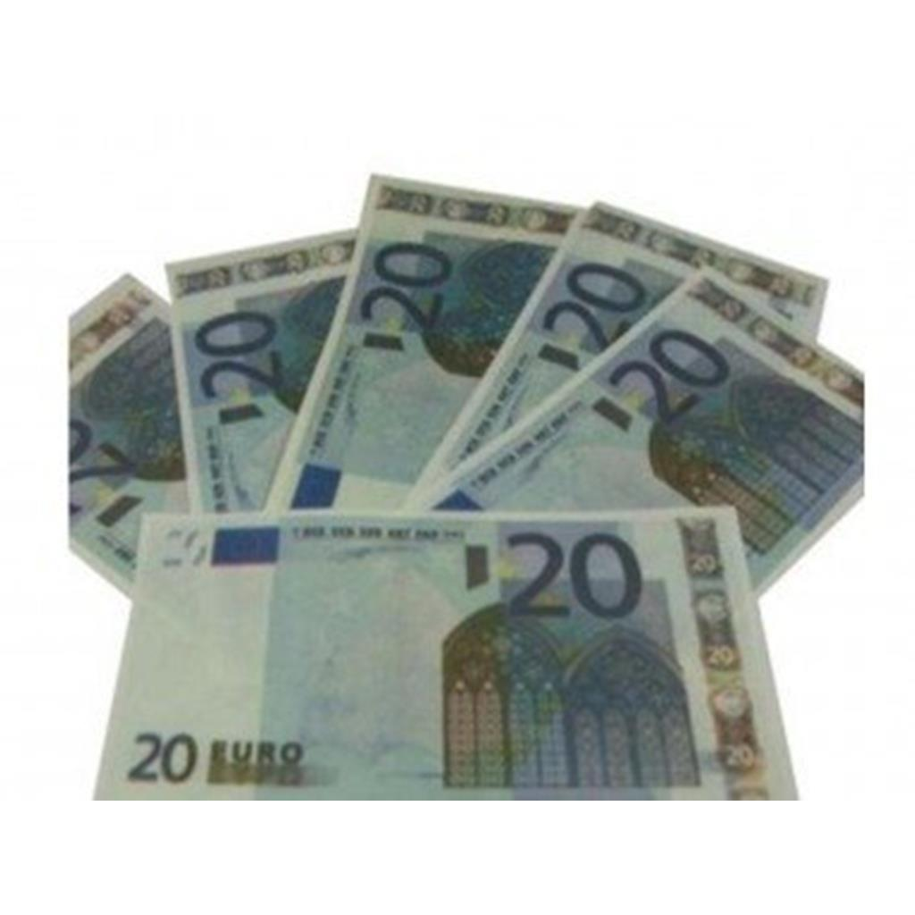 Notas Papel Flash 20 euros, 10 unid.