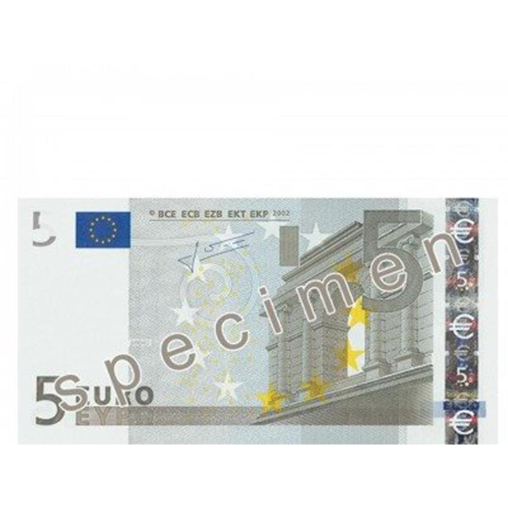 Notas papel flash 5 euros, 10 unid.