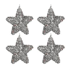 Pack 4 Estrelas de Natal, Prateado
