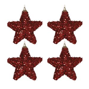 Pack 4 Estrelas de Natal, Vermelho