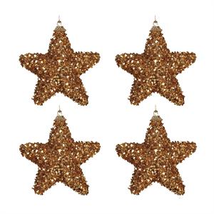 Pack 4 Estrelas de Natal, Dourado