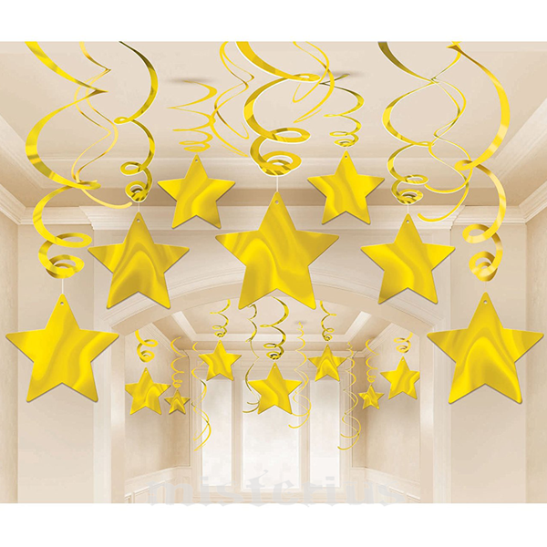Pêndulos Estrelas Douradas, 30un