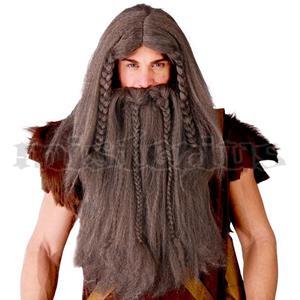 Peruca e Barba Tranças Viking