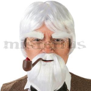 Peruca Com Barba Branca