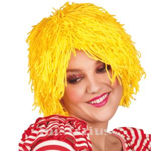 Peruca Curta Amarela Boneca
