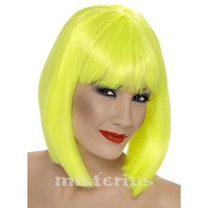 Peruca Fluorescente Amarela