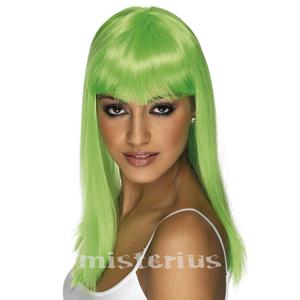 Peruca Neon Comprida Verde