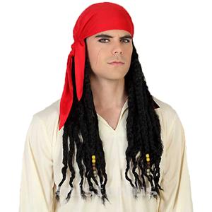 Peruca Pirata com Tranças, homem