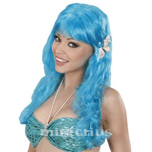 Peruca Sereia Azul