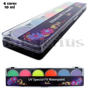 Pintura Facial UV 6 cores