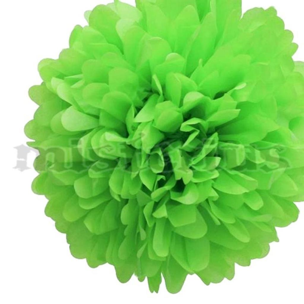 Pompom Papel Verde, 2 unid.