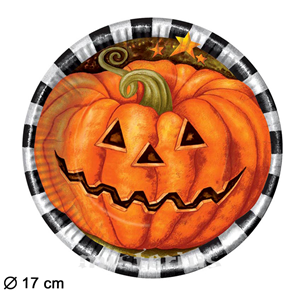 Prato Abóbora Halloween, 6 unid
