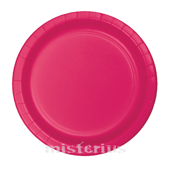 Pratos Rosa Fushia 17 Cm, 8 unid.