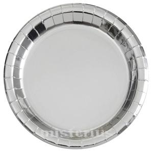 Prato Silver Foil 22cm, 8un