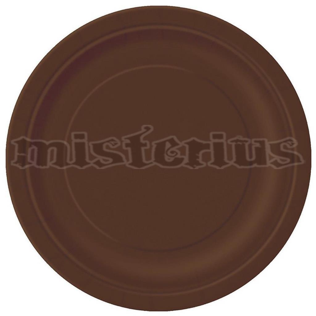 pratos castanhos, 8 unid