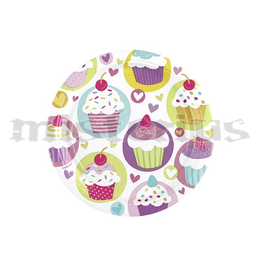 Pratos Cupcake, 8 Unid.