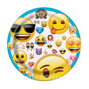Pratos Emoji, 17 cm