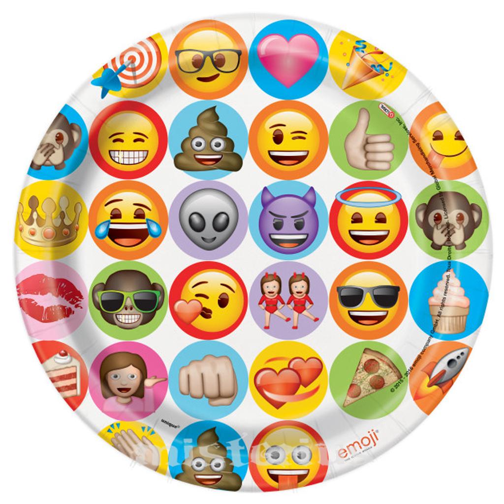 Pratos Emoji, 8 un