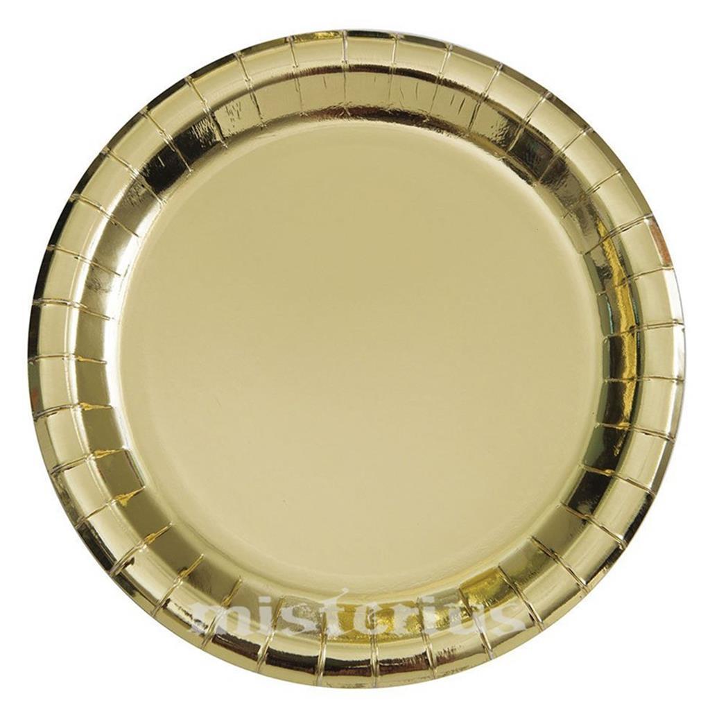 Prato Dourados Metalizados, 8 Unid.
