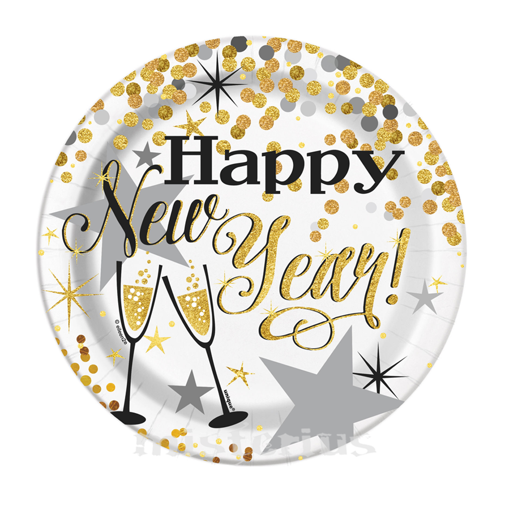 Pratos Happy New Year Peq.