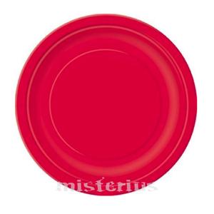 Pratos Papel Peq. Vermelho, 20 Unid