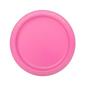 Pratos Rosa Escuro Pequeno, 20 Unid.
