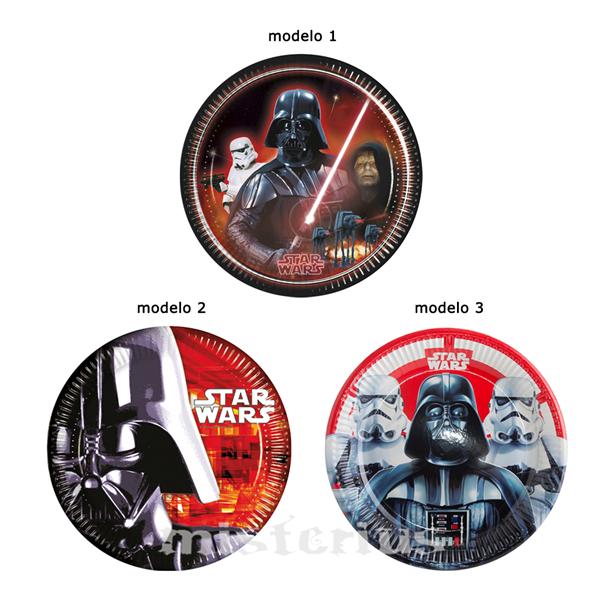 Pratos Star Wars, 8 Unid.