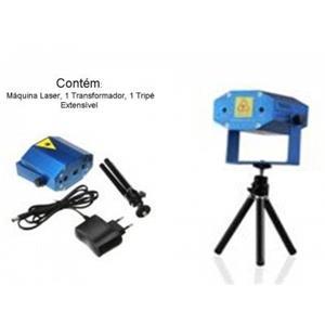 Projector Mini Laser Pontos e Estrelas Verde e Vermelhos