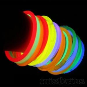 Pulseiras Glow Fosforescentes, 50 unid.