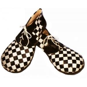 Sapatos de palhaços xadrez, adulto