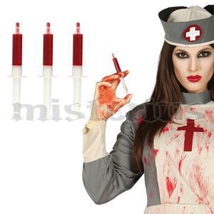 Seringas Com Sangue,3 unid