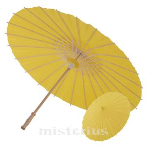 Sombrinha Chinesa Papel Amarela