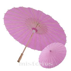Sombrinha Chinesa Papel Rosa
