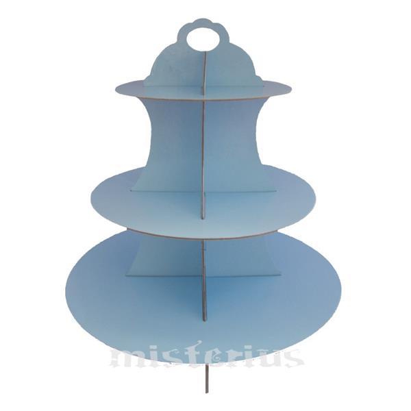 Suporte Cupcakes Azul Bébe