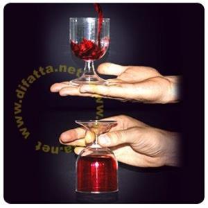 Suspensão de liquido no copo - Antigravity
