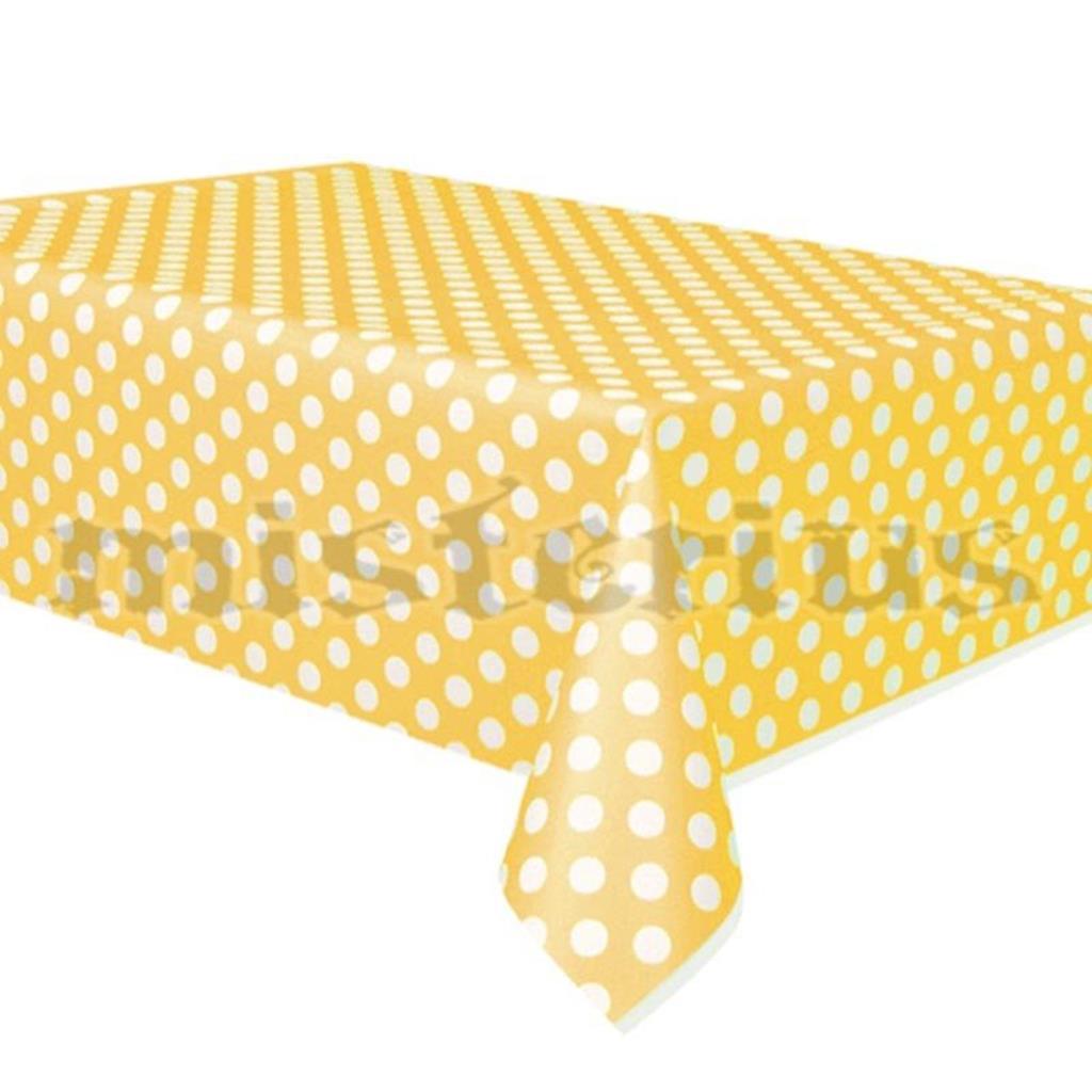 Toalha Amarela Bolinhas, 1.37 x 2.74mt