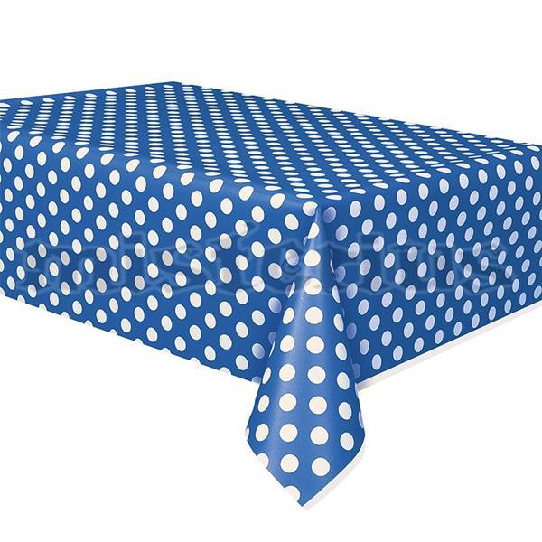 Toalha Azul Bolinhas, 1.37 x 2.74mt