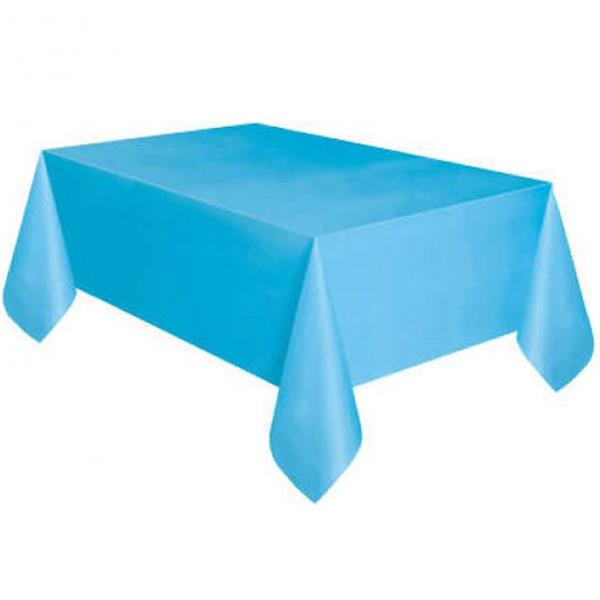 Toalha Mesa Azul Claro, 137 x 274 Cm