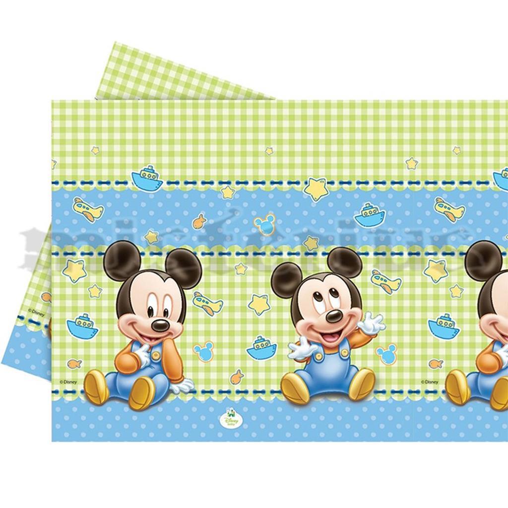 Toalha Mesa Mickey Bébe