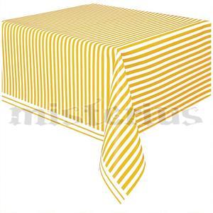Toalha Mesa Riscas Amarelo