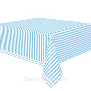 Toalha Mesa Riscas Azul Claro