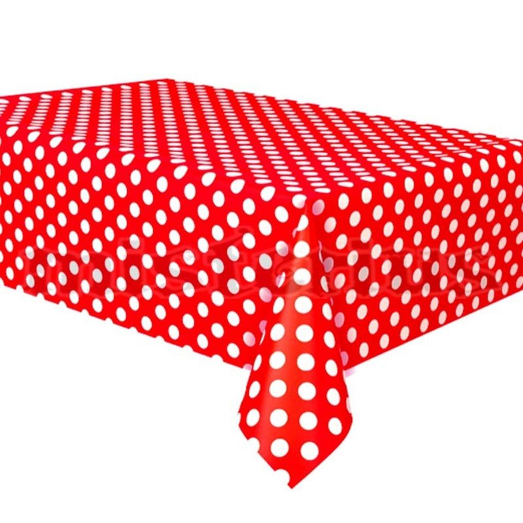 Toalha Vermelha Bolinhas, 1.37 x 2.74mt