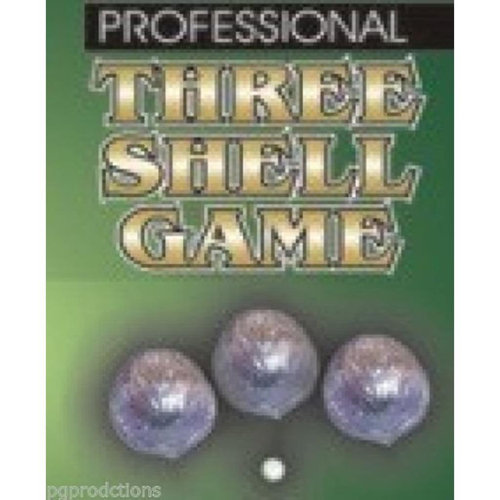 Três conchas prateadas - Three Shell Game Silver
