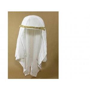 Turbante Árabe Branco com Fita